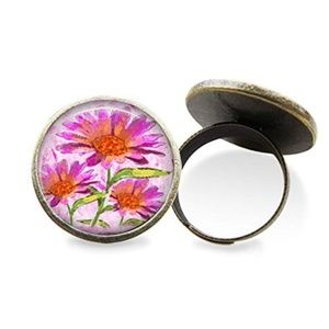 Pink Watercolor Flower Ring